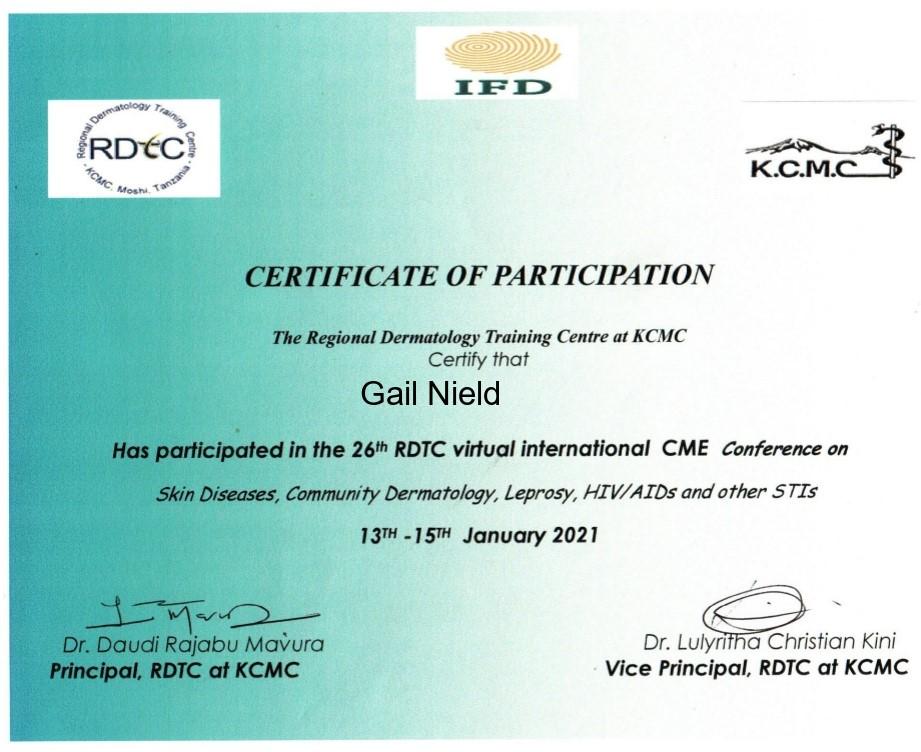 CME Certificate